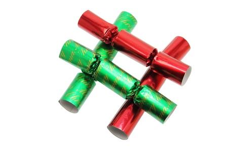 christmas cracker: Bons Bons on White Background