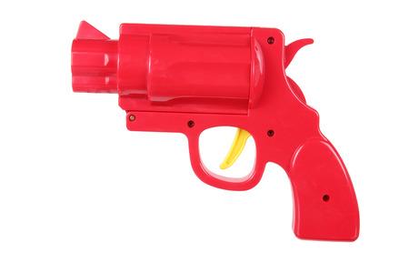 Toy Gun on White Background Stock Photo