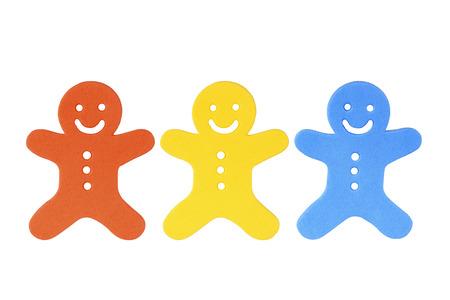 vida social: Trabajo en equipo Concepto con figuras en miniatura