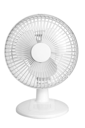 oscillation: Electric Fan on White Background