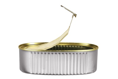 tin can: Empty Tin Can on White Background