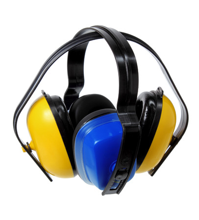 industrial noise: Earmuffs on Isolated Background