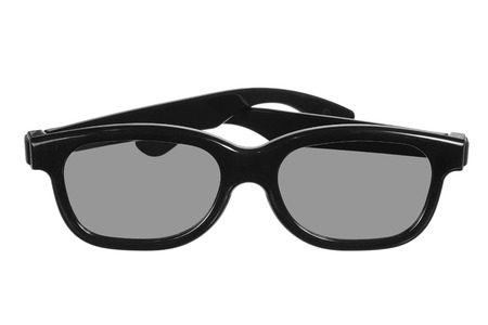 three dimensions: 3D Glasses on Isolated White Background Stock Photo