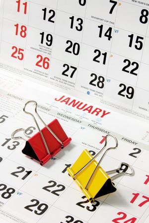 foldback: Paper Clips on Calendar