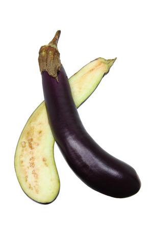 aubergine: Aubergine on Isolated White Background