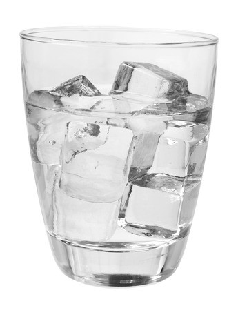 chilled out: Glass of Cold Water on White Background