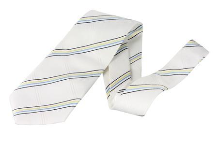 pinstripes: Necktie on White Background