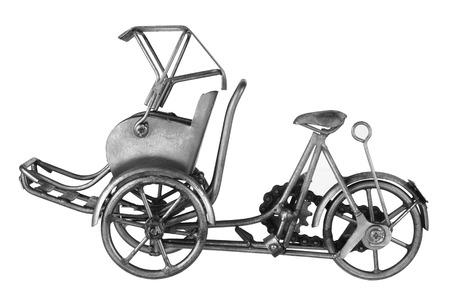 rikscha: Rickshaw auf weißem Hintergrund