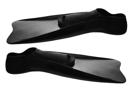 flippers: Flippers on White Background Stock Photo