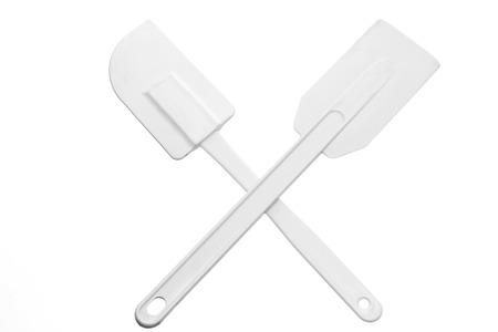 cooking implement: Spatula on White Background