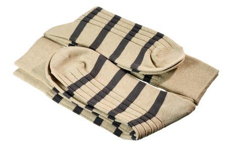 sur fond blanc: Chaussettes sur fond blanc