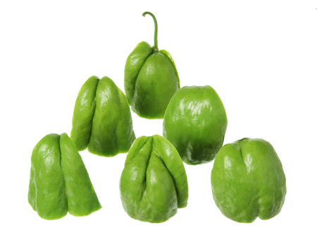 chayote: Pieces of Chayote on White Background