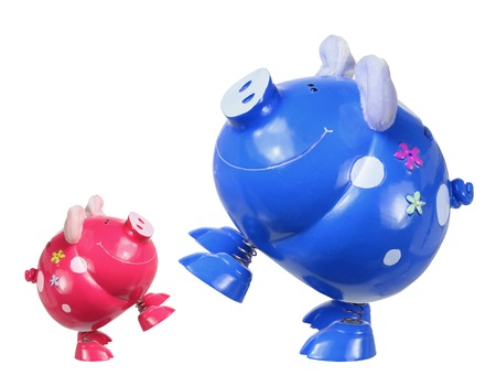 piggybanks: Piggybanks on White Background
