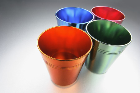 tin: Coloured Tin Cups