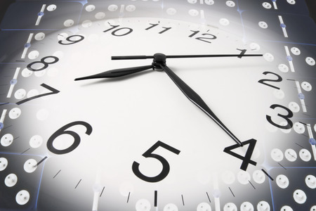precisely: Composite of Wall Clock and Dominoes
