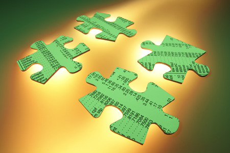 stock listing: Stock Listing Jigsaw Puzzle Pieces Stock Photo