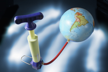 blowup: Miniature Pump Attached to Globe