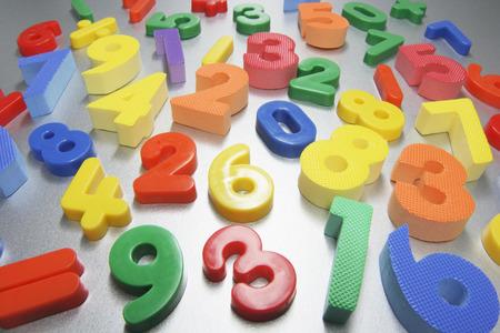 Números de plástico Foto de archivo - 44314060