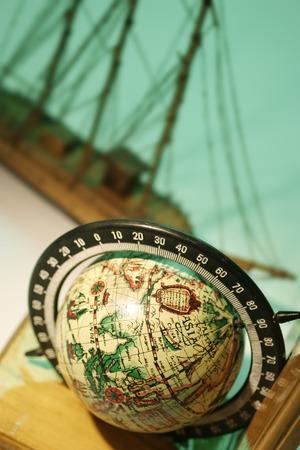 craftmanship: Antique Globe and Sailing Boat Model