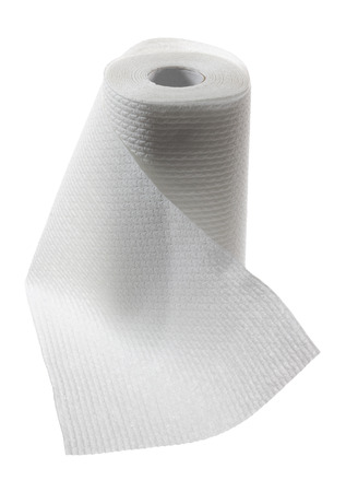 kitchen towel: Paper Towel on White Background