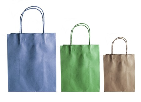 paper bags: Paper Bags on White Background