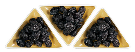 prune: Dishes of Prune with White Background