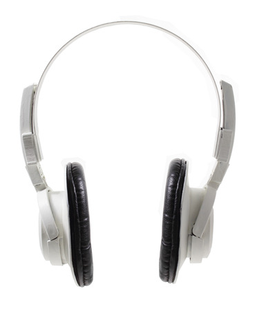 stereo cut: Headphone on White Background