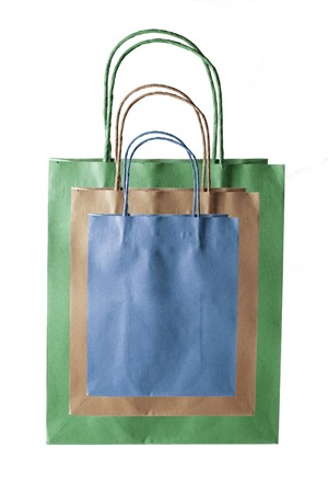 paperbags: Paper Bags on White Background
