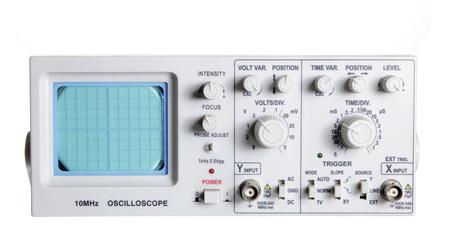 oscillations: Oscilloscope on White Background