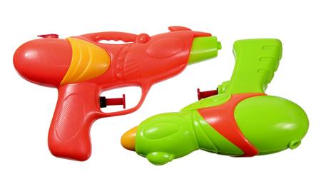 pistols: Water Pistols on White Background