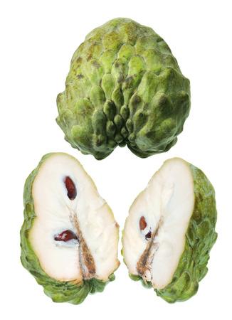 custard slices: Slices of Custard Apple on White Background