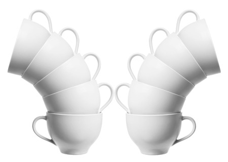 homeware: Stack of Cups on White Background