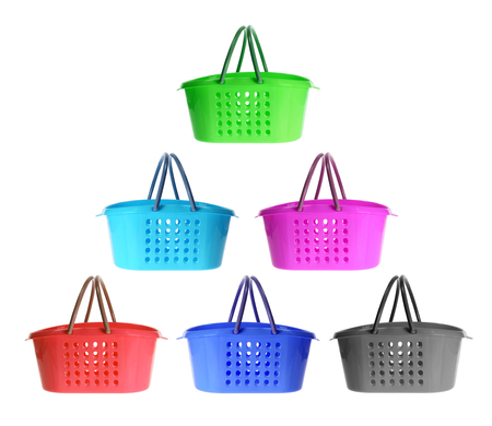 shopping baskets: Shopping Baskets on White Background