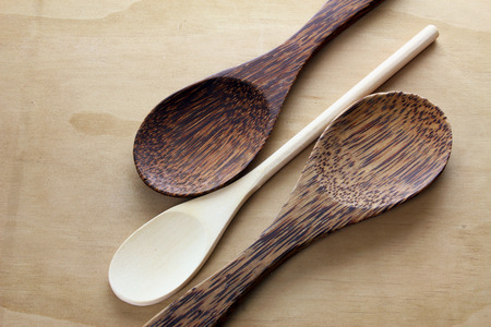homeware: Spoons on Wooden Background