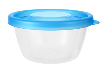 homeware: Plastic Container on White Background