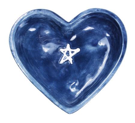 loveheart: Heart Shape Dish on White Background Stock Photo