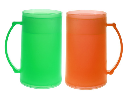 Tall Cups on White Background