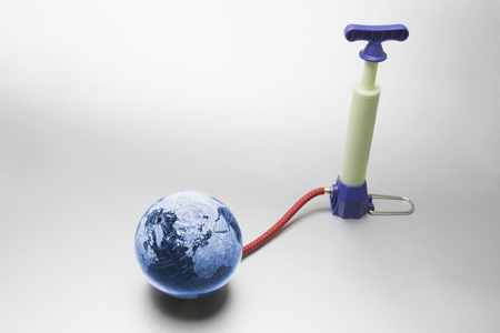 Globe and Pump on Seamless Background