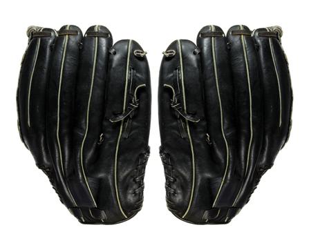 Baseball Gloves on White Background