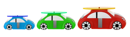Toy Cars on White Background Stock Photo