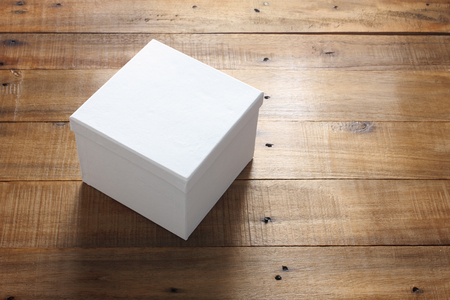 Giftbox on Wooden Background