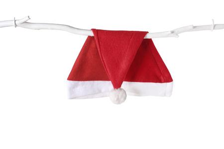 Santa Hat on White Background Banque d'images