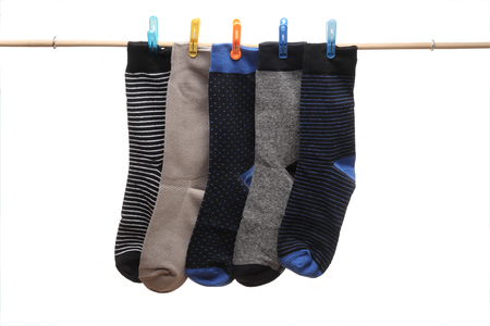 Socks Hanging from Stick