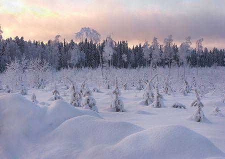 cloud drift: Winter Landscape