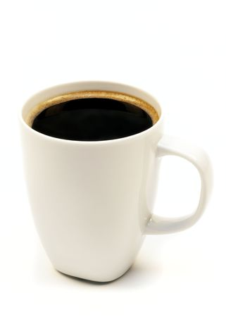 Cup of coffee on a white background photo