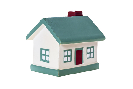 maquette: Abstract house model on a white background Stock Photo