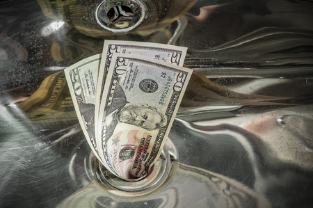Buttare via i soldi, concetto di business