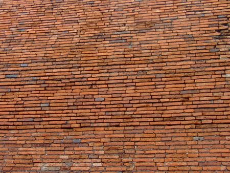 Ancient  background red brick wall  photo