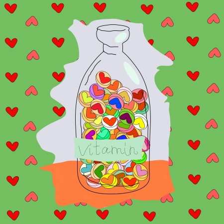color mixing: This is a humorous image on the theme of love, Valentine