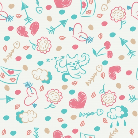 Seamless pattern on Valentine